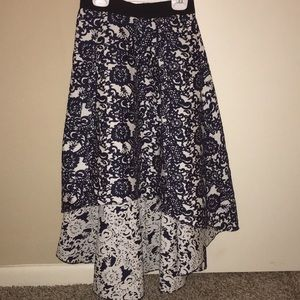 Anthropologie Skirts - Anthropologie high-low navy floral skirt